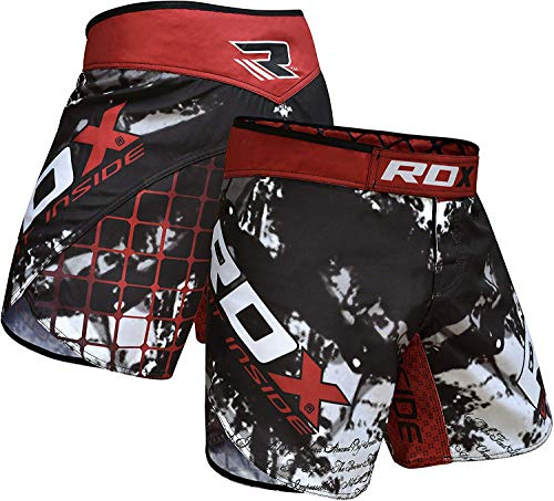 (RDX Clothing MMA Training UFC Shorts Cage Fighting Grappling Martial Arts Boxing Muay Thai Kickboxing,Black,2X-Large )