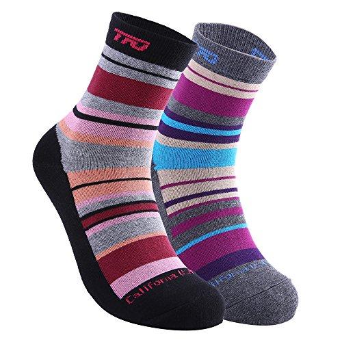 Women's Antiskid Wicking Cotton Socks Multi Performance Hiking Trekking Walking Sock