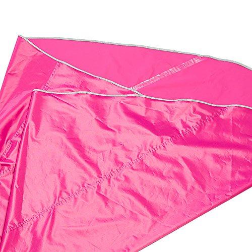 Unisexe polyester bleu Rose professionnel Zmigrapddn vélo imperméable en réfléchissant Poncho ruban rouge capuche pour XL avec AxHBRxPgwq