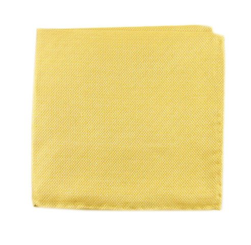 The Tie Bar Butter Gold Solid Linen Pocket Square