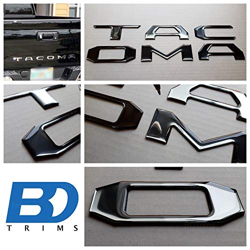 Silver 3D Domed Raised Letters Inserts for Toyota Tacoma 2016-2020 Tailgate