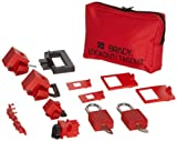 Brady Lockout Sampler Pouch Kit, includes 2 Safety Padlocks and 2 Tags - 99296