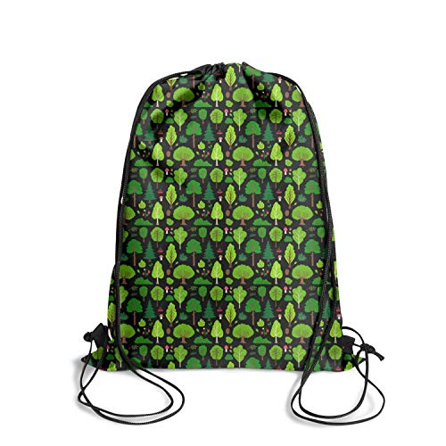 Drawstring Backpack Bag happy Arbor day tree black Backpack Travel Gym -