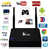 GULEEK K3 KODI Media Center Android Tv Box Streaming Media Player with Kodi Addons Fully Loaded for Live TV & Movies,Quad Core Amlogic S905x 2G 16GB 1000M Lan Wifi HDMI2.0