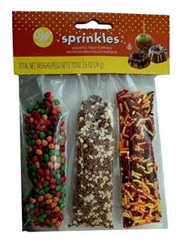 Autumn Colored Grasses - Autumn Pumpkin Sprinkles Mix Decorations 3.5 oz Wilton Halloween