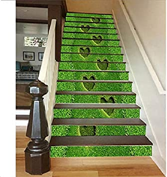 Vinilos Escaleras Decoración De La Pared De La Escalera 13 Unids/Set Fondo De Pasillo Creativo Pintura De La Pared Pasillo Pasillo Pared Estéreo 3D Pegatinas De Pared: Amazon.es: Bricolaje y herramientas