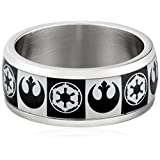 Star Wars Jewelry Men's Empire Rebel Alliance Logo Stainless Steel Ring, Size 11