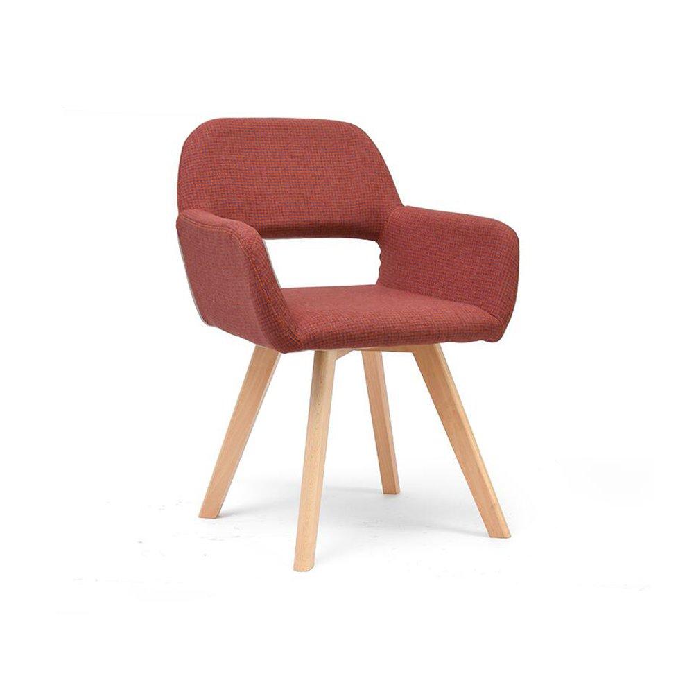 DALL ダイニングチェア JY-047ファッションラティス ストライプパターン コットンリネン 組み立てることができます 中空デザイン 背もたれレジャー木製椅子 (色 : 2) B07DD7JRBV 2 2