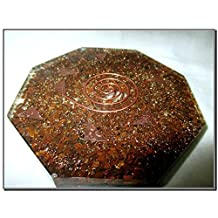 Jet New Tiger Eye Orgone Octagon Vastu Plate Free Booklet Jet International Crystal Therapy Energy Generator Crystal Gemstones Unique Rare Science Construction Vedic Astrology Wealth Health Cosmic Intelligence Five Elements Copper Metal Mix Rare Healing Positive Energy Tetrahedron Sacred Feng Shui Geometry Memory Concentration Meditation Spiritual Psychic Piezo Electric Effect Business Prosperity Success Destress Anxiety Disorder