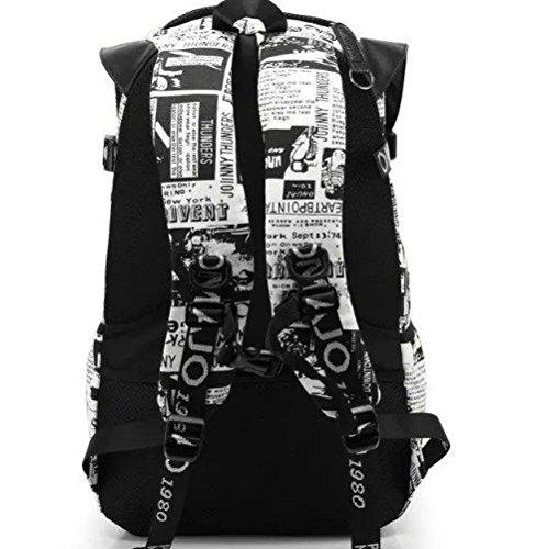 WTUS Hombre gran capacidad de los estudiantes de secundaria la mochila mochila de tela de tendencia de moda hombres hombros mochila de viaje Bolsas gris