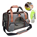 YVO Cat Bags Carrier Pet Travel Carrier Bags Airline Approved Under Seat Soft-Sided Foldable Pet Handbag Cozy Ventilated with Mesh for Small Dogs Cats for Daily or Outdoor Use (Gray)