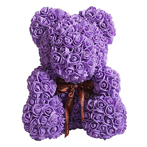 Rose Bear Teddy Bear Cub Forever Artificial Rose Anniversary Christmas Valentines Gift 10