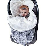infant girl quilt - Newborn Baby Swaddle Blanket Wrap, Thick Baby Kids Toddler Knit Soft Warm Fleece Blanket Swaddle Sleeping Bag Sleep Sack Stroller Unisex Wrap for 0-12 Month Baby Boys Girls (Grey)
