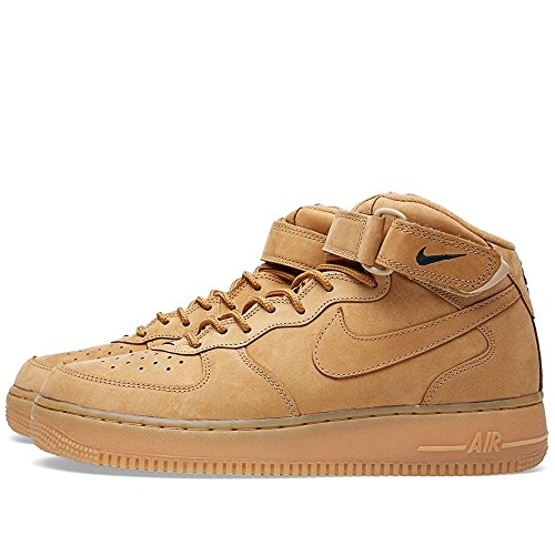 Nike Mens Air Force 1 Mitten 07 Prm Qs Syntetisk Basket Skor Lin / Lin-utomhus Gröna
