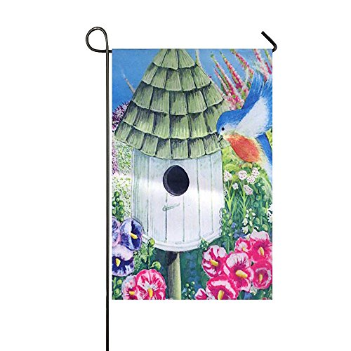 FUNNYFLAG Garden Flag Holiday Decoration Best for Party Yard and Home Outdoor Decor 11.5 x 17.5 inch Birdhouse Special