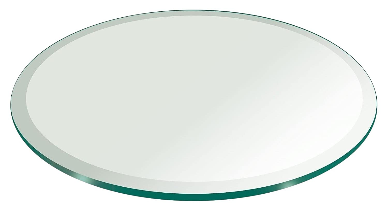 46 Inch Round Glass Table Top 1//2 Thick Tempered Beveled Edge by Fab Glass and Mirror