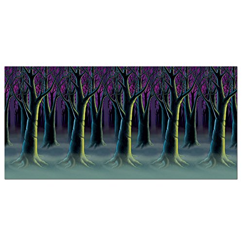 Spooky Forest Halloween Scene Setter Roll Backdrop Party (Halloween Forest Scene Setter)