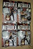 Harvesters of Sorrow Metallica Figure Set of 4 Individually Carded...Hetfield, Newstead, Hammett, Ulrich...Each Packaged Figure Contains Part of Lars Ulrich Drum Set