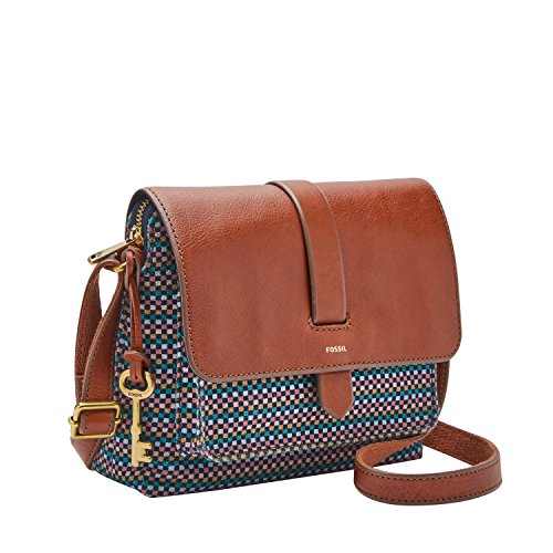 Small Kinley Bag Brown Fossil Crossbody Teal p45wqqd