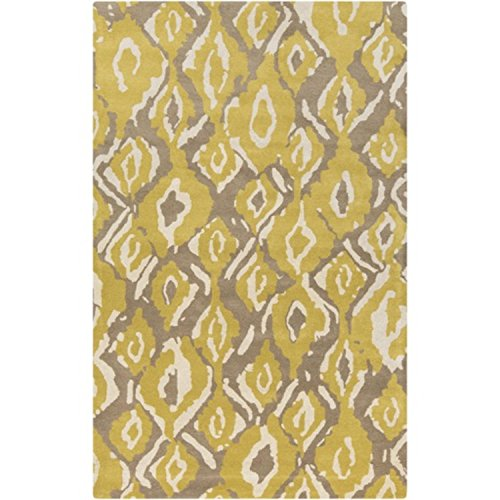 Beige Hand Tufted Wool Hearth - Diva At Home 3.25' x 5.25' Modern Trend Calaveras Beige And Brown Design Hand Tufted Wool Hearth Area Throw Rug