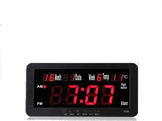 MYLEDI LED Reloj Digital Pared Mudo Reloj De La Pared del ...