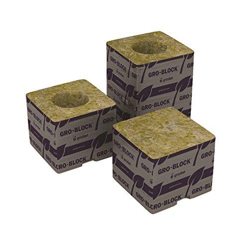 Grodan Delta 4 Small Rockwool Gro Blocks 3'' X 3'' X 2.5'' No Hole 1 Case = 48 Strips (384 Blocks Total)