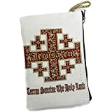 Icon Case Pouch Coin Purses Tapestry Prayer With Jerusalem Cross 5.7