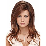 SmartFactory Middle Gold European Big Wavy Curly Synthetic Human Hair Wig for Women Review