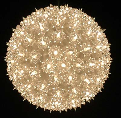Mini Twinkle Sphere (Novelty Lights, Inc. SS150-TWI-CL Commercial Grade Indoor/Outdoor Christmas Starlight Sphere, Twinkle Clear, Random Twinkle, 150 Light, 10