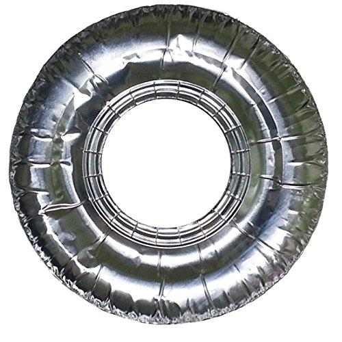 Round Liner Guard (ZaZaTool - 20 Aluminum Foil Round Gas Burner Disposable Bib Liners Stove Covers)