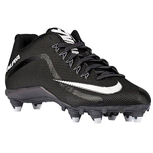 Nike Hombres Alpha Cleats, Negro