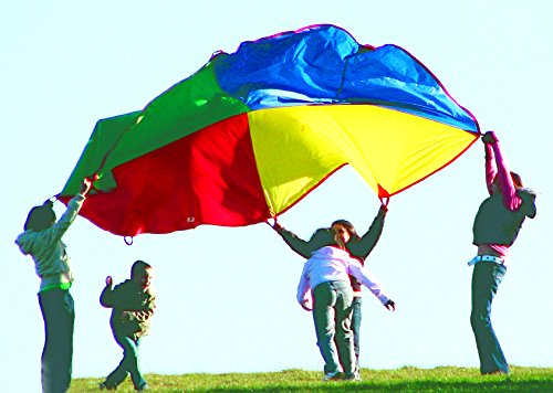 'Playscene' Children's Multicolored Parachute With 8 Handles, Indoor / Outdoor 12 FEET Parachute ()