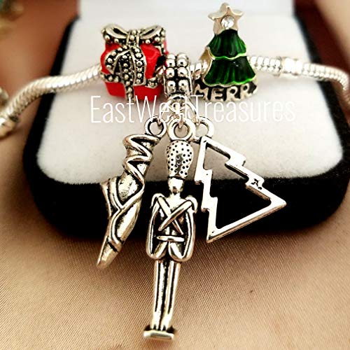 Christmas tree Ballerina Nutcracker Ballet charms-for all charm bracelets and chain necklace