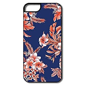 Keke Personalize Funny Plastic Case Tropical Beat Floral Indigo Cropped For IPhone 5/5s