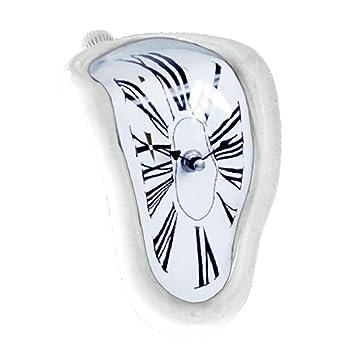 Homyl Reloj Derretido, Melting Clock, Diseño Novedoso - Blanco: Amazon.es: Hogar