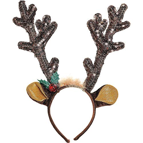 amscan Antler Headband | Christmas Accessory]()