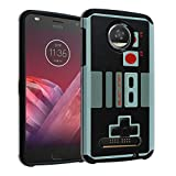 Moto Z PLAY Case, Moto Z PLAY Droid Cover DURARMOR [Drop Protection] Hybrid ShockProof Slim Fit Armor Case for Motorola Moto Z PLAY Droid – Vintage Nintendo NES Game Controller For Sale