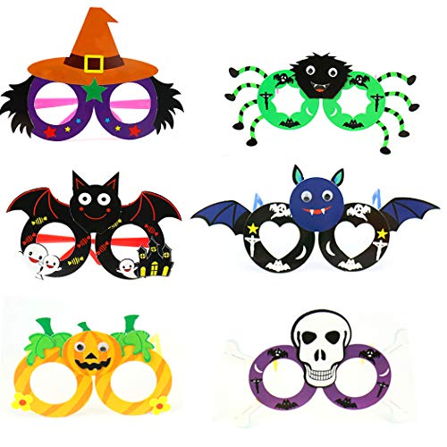 6 Pairs Halloween Party Glasses DIY Assorted Funny Glasses Party Favor Glasses ()