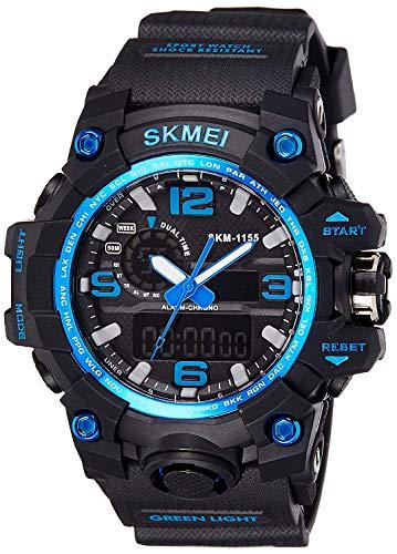 SKMEI Analog Digital Quartz Men's Watch with Silicone Strap – AD1155
