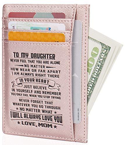 Small RFID Blocking Minimalist Credit Card Holder Pocket Wallets for Men & Women (Best Female Wallet Brand)