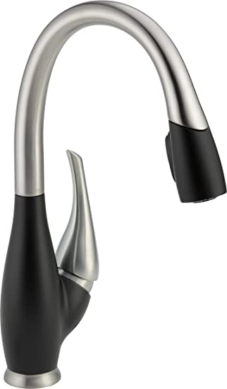 Delta 9158 SB DST Fuse Single Handle Pull Down Kitchen Faucet With