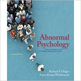 Abnormal psychology: clinical perspectives on psychological disorders.