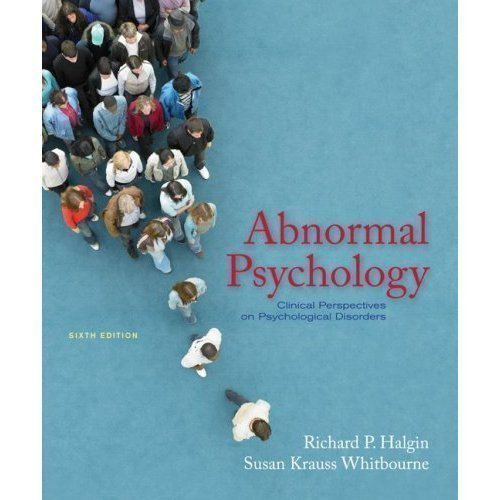 Isbn 9780073370699 abnormal psychology: clinical perspectives.