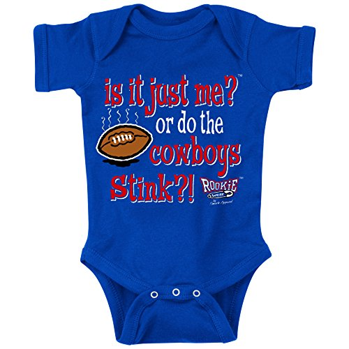 Smack Apparel NY Pro Football Fans. is It Just Me Royal Onesie (6M)
