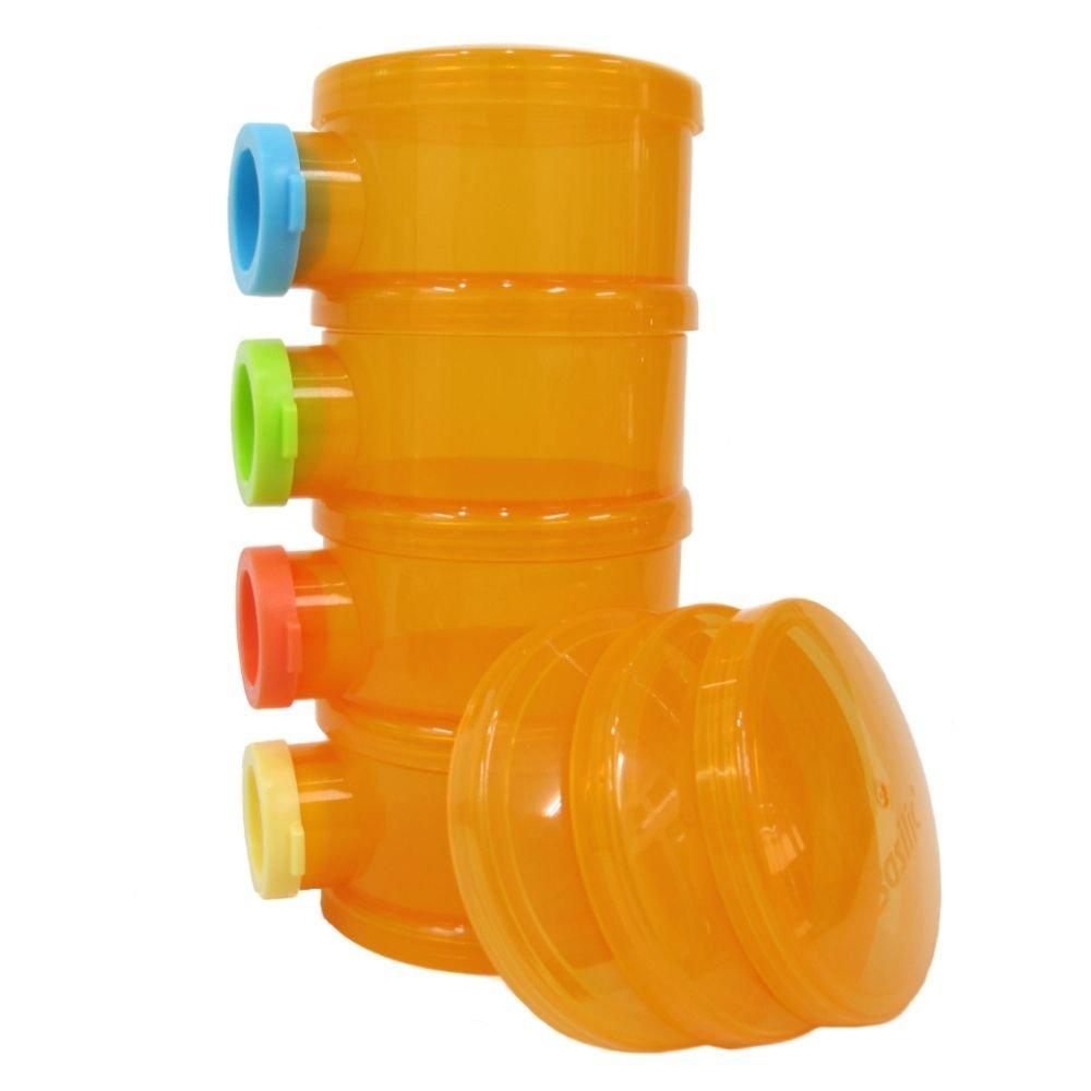 Basilic Baby Formula Dispenser / Milk Powder Container / Storage / Pot - 4 Compartment (purple) Basilic Co. Ltd.