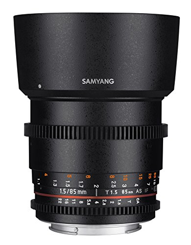 Samyang SYDS85M-S VDSLR II 85 mm T1.5 Lente de cine para cámaras Sony Alpha A Mount DSLR