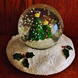 Yankee Candle Snowglobe Jar Topper - Christmas Trees