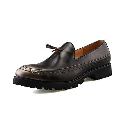 Xiazhi-shoes,, - Mocasines para Hombre Plateado Plateado 40 EU
