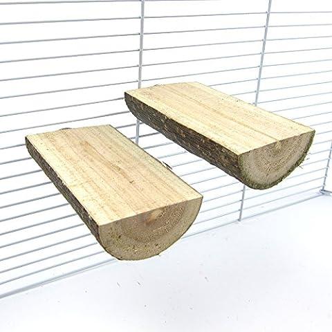 Alfie Pet by Petoga Couture - Edmond Wooden Stand 2-Piece Set for Birds - Size: Medium - Wooden Perch