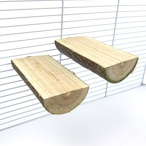 Alfie Pet by Petoga Couture - Edmond Wooden Stand 2-Piece Set for Birds - Size: Small by Alfie